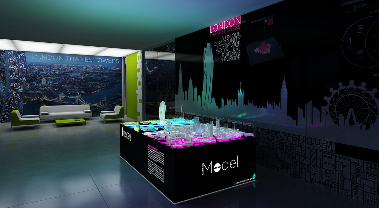 Interactive Model – iModel Media Table